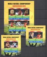 H1096 2010 GAMBIA SPORT FOOTBALL WORLD CUP SOUTH AFRICA USA VS GHANA 1KB+2BL MNH - Coppa Del Mondo
