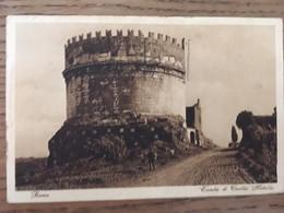 CPA, Roma, Tomba Di Cecilia Metella, Sépia, écrite En 1928, Timbre, Animée - Roma (Rome)