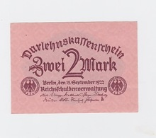 Billet De 2 Mark  Du 15- 9- 1922 Pick  62 - Altri