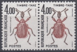 Taxe N° 108 A - X X - ( Double Frappe Tenant à Normal )  - ( F 420 ) - Curiosities: 1980-89 Mint/hinged
