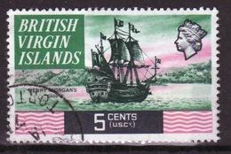 British Virgin Islands 1970 Queen Elizabeth Single 5 Cent  Stamp From The Definitive Set. - British Virgin Islands