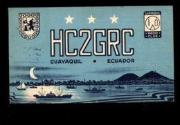 C1389 CARTA QSL CARD - ECUADOR GUAYAQUIL HC2GRC RADIO CLUB CIRCULATED WITHOU STAMP 1949 - Carte QSL