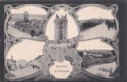 Carte 1910 SOUVENIR D'OUDON / MULTIVUES Rue ,église .. - Oudon