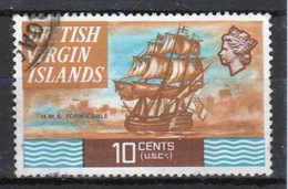 British Virgin Islands 1970 Queen Elizabeth Single 10 Cent  Stamp From The Definitive Set. - British Virgin Islands