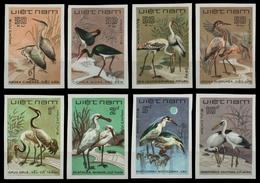 Vietnam 1983 - Mi-Nr. 1390-1397 U (*) - Ohne Gummi Verausgabt - Vögel / Birds - Viêt-Nam