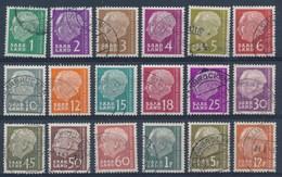 SARRE - SAAR - Selectie Nr 3 - HEUSS - Gest./obl. - 1957-59 Fédération