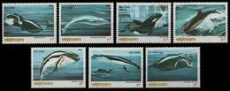 Vietnam 1985 - Mi-Nr. 1626-1632 ** - MNH - Wale / Whales - Viêt-Nam