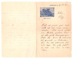 LETTRE A UN AMI LUNEVILLE 1934 - Documents