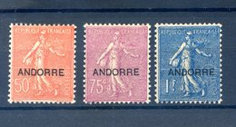 Andorre - N°15, 17 Et 18 Neuf* (charnière Légère) - Cote 98€ - (C001C) - Neufs