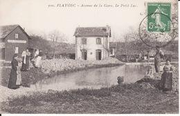 83 FLAYOSC,Avenue De La Gare, Café Restaurant, Animée , 1914,  2 Scans - France