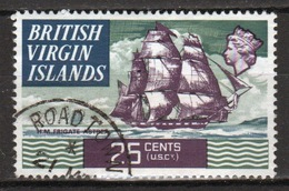 British Virgin Islands 1970 Queen Elizabeth Single 25 Cent  Stamp From The Definitive Set. - British Virgin Islands