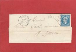 Cher - Mehun Sur Yevre - GC 2300 Sur N°22 - LAC Juin 1864 - Marcophilie (Lettres)