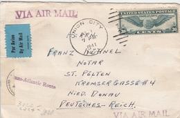 Etats Unis Lettre Censurée Pour L'Allemagne 1941 - Poststempel