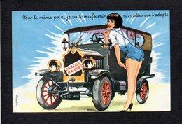 Illustrateur Dessin Signé (C) L. Carrière / Fantaisie,femme,automobile / Pour Le Même Prix,je Vais Vous Fournir   ..... - Carrière, Louis