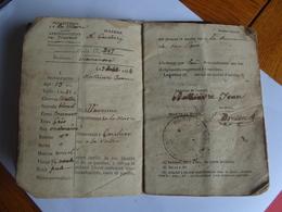 Livret Ouvrier Nièvre Aciérie  Fourchambault Garchizy Imphy - Collections
