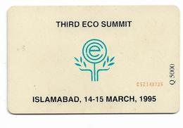 PAKISTAN USED CHIP PHONECARD 30 UNITS THIRD ECO SUMMIT - Pakistan