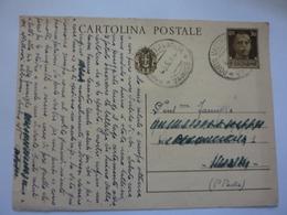 Cartolina Postale Viaggiata  1942 - 1900-44 Vittorio Emanuele III