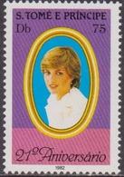 S. Tome E Principe - Diana Set MNH - Donne Celebri