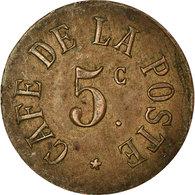 Monnaie, France, Café De La Poste, Perpignan, 5 Centimes, TTB, Cuivre - Monetary / Of Necessity