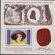 S. Tome E Principe - Goethe Set MNH - Celebrità