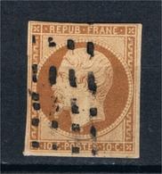 FRANCE N° 9 Obl Type Céres ND Bistre/jaune - 1849-1850 Ceres