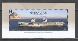 CC654 2018 GIBRALTAR MILITARY NAVY TRANSPORT SHIPS HMS QUEEN ELIZABETH BL131 1BL MNH - Ships