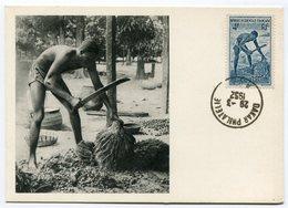 RC 12846 AOF AFRIQUE OCCIDENTALE 1952 CARTE IONYL PUBLICITÉ ADRESSÉE AUX MEDECINS - Brieven En Documenten