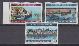 Guernsey 1969 Definitives 3 High Values Perf. 12.5 ** Mnh (43005) - Guernsey