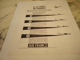 ANCIENNE PUBLICITE A LA POINTE DU PROGRES  AIR FRANCE  1953 - Advertisements