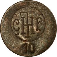 Monnaie, France, C.F.T.H (Cie Française Thomson-Houston), Paris, 10 Centimes - Monétaires / De Nécessité