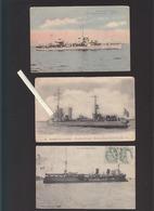 Marine De Guerre / Lot De 3 CP / Torpilleur Mazare (ancien Allemand S.135, Massue, Croiseur Lavoisier - Guerre