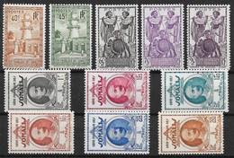 COTE DES SOMALIS : SERIE COMPLETE N° 177/187 NEUVE * GOMME AVEC CHARNIERE - Unused Stamps