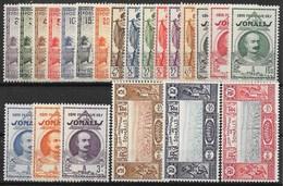 COTE DES SOMALIS : SERIE COMPLETE N° 148/169 NEUVE * GOMME TRACE DE CHARNIERE - Unused Stamps