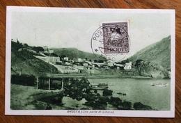 POSTE CALINO  * EGEO * 5/4/34   SU CARTOLINA DI BROSTA  ( UNA PARTE DI LINARIA ) - Aegean