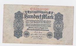 Billet De 100 Mark Du 4-8-1922   Pick 75 - 100 Mark