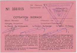 BRUGGE VERBROEDERING GEHEIM LEGER - ARMEE SECRETE. Lidkaart 1961 - Documents Historiques