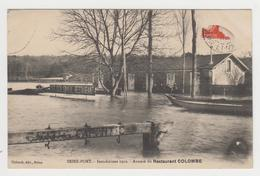 BO318 - SEINE PORT - Inondations 1910 - Annexe Du Restaurant COLOMBE - Barque - Francia