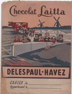 Protége-Cahier/ Chocolat Leitta/ DELESPAUL-HAVEZ/Vers 1930-1950  CAH - Kakao & Schokolade