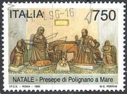 Italia, 1995 Natale, 750L # Sassone 2191 - Michel 2411 - Scott 2057  USATO - 6. 1946-.. Republik