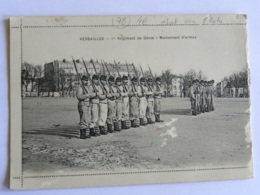 CPA (78) Yvelines - VERSAILLES - 1er Régiment De Génie - Maniement D'armes - Carte Lettre Militaire 1912 - Versailles