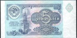 USSR Russia 5 Ruble 1991 UNC - Rusia