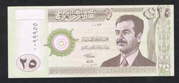 //  IRAK 25 DINARS  SADDAM HOESSEIN  2001 NIEUW - Irak