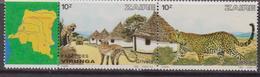 Zaire 1981 - Animal Map Set MNH - Geografia