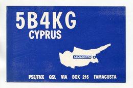 QSL RADIO AMATEUR CARD 1963 5B4KG CYPRUS FAMAGUSTA A15 - Radio-amateur