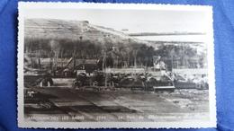 CPSM ARROMANCHES LES BAINS 14 CALVADOS 1944 LE PORT DU DEBARQUEMENT PHOTO CHEVRET OU CHEVRAT 1947 MANQUE TIMBRE - War 1939-45