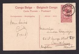 Belgian Congo: PPC Stationery Picture Postcard To UK, 1919, Forest, Card: River Sendwe (minor Crease) - Belgisch-Kongo