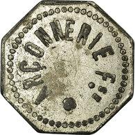 Monnaie, France, Arçonnerie Française, Saint-Sulpice, 5 Centimes, TTB, Zinc - Monetary / Of Necessity