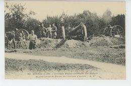 GUERRE 1914-18 - Artilleurs Anglais établissant Une Batterie De Gros Canons De Marine Aux Environs D' Anvers - War 1914-18