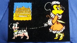 CPSM DISNEY MINNIE CHIEN CHIOT DALMATIEN FEUTRINE PARIS OPERA 1963 - Disney
