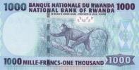 RWANDA P. 39 1000 F 2015 UNC - Rwanda